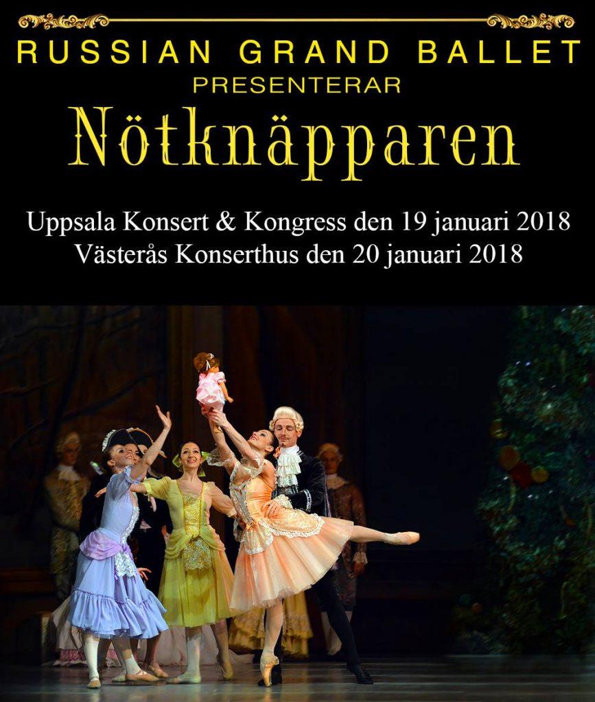 "19 и 20 января Russian Grand Ballet даёт ""Щелкунчика"" в Упсале и Вестеросе"