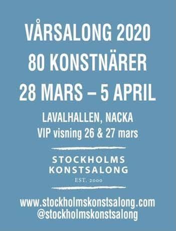 28 марта- 5 апр 2020 Полотна Юрия Кононова в Стокгольме