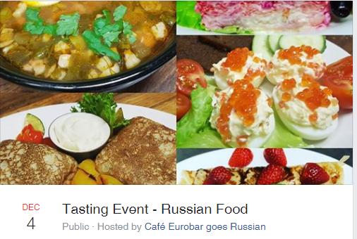 4 декабря 2018 Дегустация русской кухни в кафе Eurobar (Стокгольм)